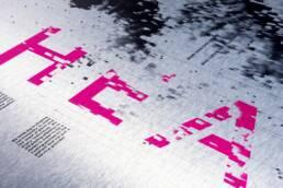 Bachelorarbeit Corporate Identity, Corporate Design, Plakate, Integro, Plakat Typografie Detailaufnahme, Closeup 2