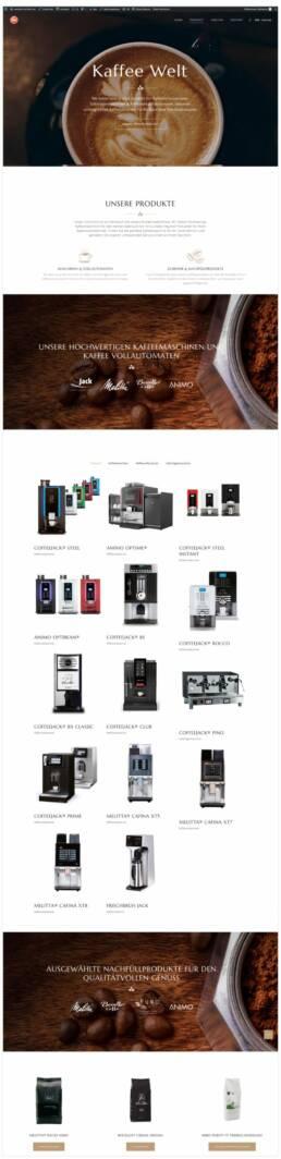 Projekt MW-Vertrieb, Webdesign Würzburg, WooCommerce, Shop Seite