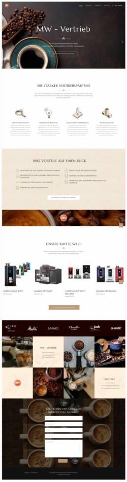 Projekt MW-Vertrieb, Webdesign Würzburg, WooCommerce, Ansicht Startseite