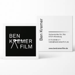 Visitenkarten, Ben Kremer Film Würzburg