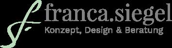 Logo Franca Siegel, Grafikdesign, Webdesign und Online Marketing Management