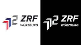 Logo Design ZRF Zweckverband für Rettungsdienst und Feuerwehralarmierung Würzburg, Farbe und Monochrom