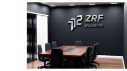 Konferenzraum Firmenlogo, ZRF Zweckverband für Rettungsdienst und Feuerwehralarmierung Würzburg