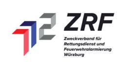 Logo Design ZRF Zweckverband für Rettungsdienst und Feuerwehralarmierung Würzburg
